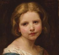 Tete d'enfant, etude by William Adolph Bouguereau