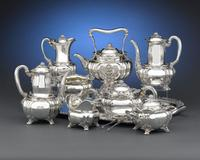 A magnificent 10-piece Chrysanthemum tea service.  Introduced in 1878, Tiffany & Co.'s Chrysanthemum pattern is one of the most magnificent and celebrated sterling silver designs of the 19th century.