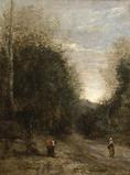 L'entrée du Chemin Creux by Jean-Baptiste-Camille Corot