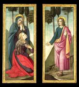 This stunning pair of paintings by Bartolomeo di Giovanni was most likely made to adorn an altar