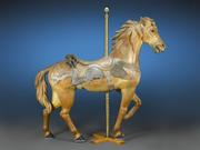 This extremely rare and delightful carousel horse by Philadelphia Toboggan is one of the earliest made by the renowned company