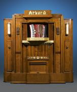 This Arburo Orchestrion revolutionized the automated music industry by utilizing stand-alone instruments in its ingenious mechanism.  Each was special ordered and made entirely by hand.