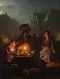"""An Evening Market"" is one of Petrus van Schendel's masterpieces."