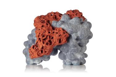 Tessa Eastman Cocoon Cloud Blue Orange Fizz, 2019 Multiple glazed stoneware