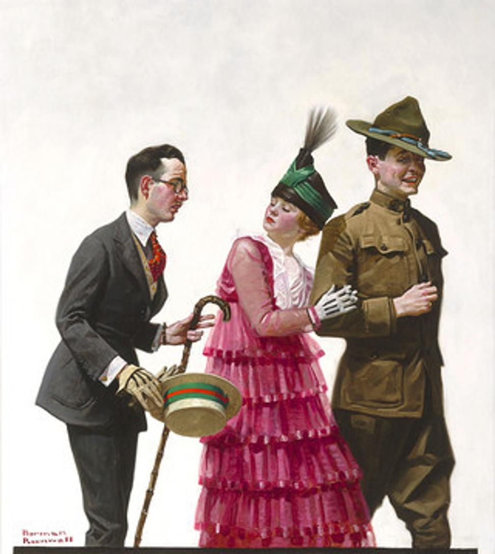 Excuse Me by Norman Rockwell, circa 1917