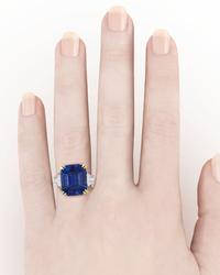 Kashmir sapphires are one of the scarcest stones in the world, and to find one of this monumental size, certified to be unenhanced, is extraordinarily rare.