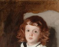 "Signed, dated and inscribed ""To Mrs.  Millet 1887 John S.  Sargent"" (upper edge)"