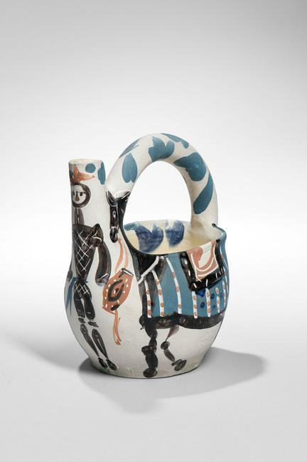 Pablo Picasso (1881-1973) Ceramic Cavalier and Horse Pitcher (Lot 253, Estimate $4,000-6,000)