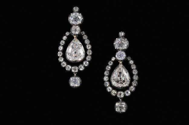 Rare Pair of Georgian Era 21.5 Carat Earrings