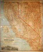 Multi-colored map of California and Nevada, with Virginia City insert, published by A,L.  Bancroft & Co., San Francisco ($2,783).
