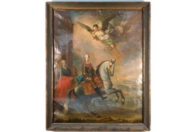 Lot 275 - Old Master Painting - British Soldiers
