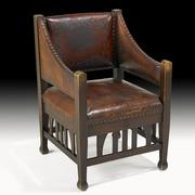 Roycroft Leather Chair from the Forbes Collection, $15,000-$20,000, Auction Date: October 27, 2012