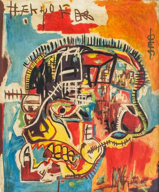 Jean-Michel Basquiat (American, 1960-1988) Mixed Media