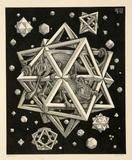 M.C.  Escher (Dutch 1898-1972) Stars (Bool 359) $10,000-$20,000