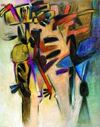 Gesticulante, 1976, Oil on canvas, 58.9 x 47.2 inches (150 x 120 cm)