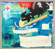 Kerry James Marshall, Great America, 1994 acrylic and collage on canvas