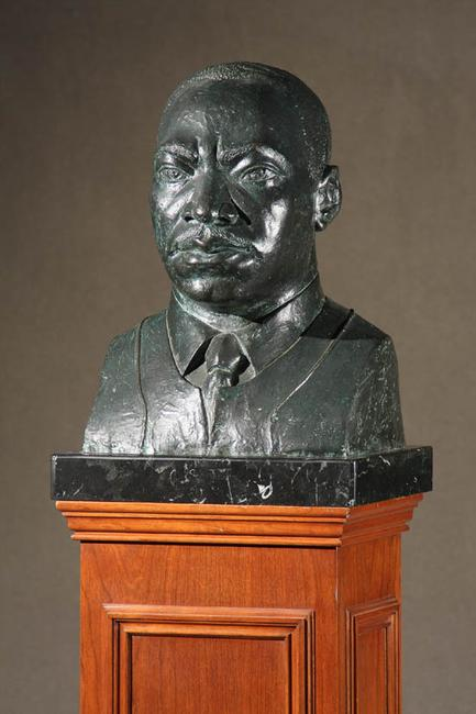 Elizabeth Catlett (American 1915-2012), Bust of Dr.  Martin Luther King, Jr.  (Estimate $50,000-$70,000)
