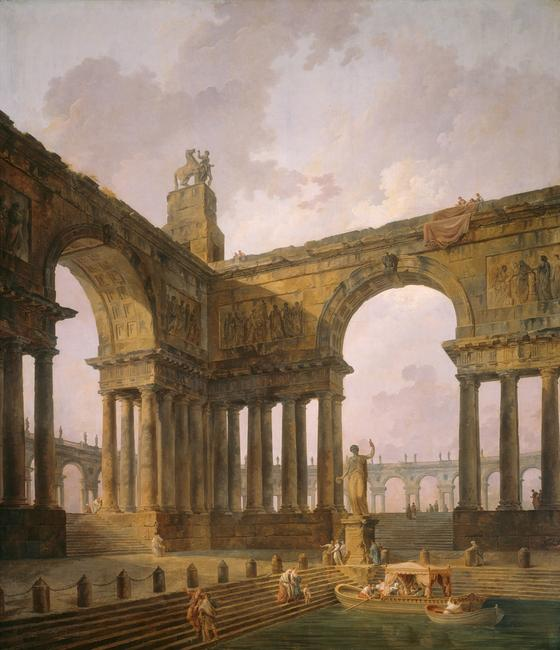 Hubert Robert, The Landing Place, 1788 oil on canvas.  The Art Institute of Chicago, Gift of Richard T.  Crane