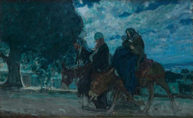 4: Henry Ossawa Tanner, Flight into Egypt, oil on canvas, circa 1910.  Sold October 5, 2017 for $341,000.
