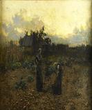 "Hamilton Hamilton (American, 1847-1928), Oil on canvas, ""Close of the Toilsome Day,"" 1884, $15,000-25,000"