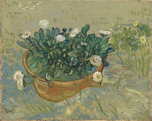 2018 Loan Exhibition Highlight Vincent Van Gogh (Dutch, active in France, 1853-1890) Daisies, Arles, 1888 Oil on canvas Framed: 20 1/2 × 23 3/4 × 2 1/4 in.  (52.07 × 60.33 × 5.72 cm) Collection of Mr.  and Mrs.  Paul Mellon, 2014.207 Image © Virginia Museum of Fine Arts