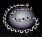 Lot 745 Sapphire & Diamond necklace