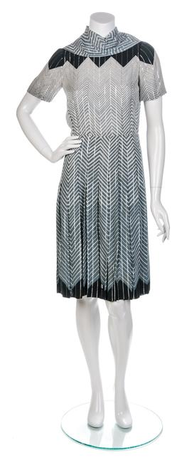 A Valentino Geometric Pleated Dress