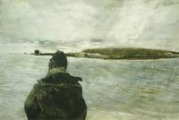"""Andrew Wyeth (1917-2009) Davis Straits, 1982.  Watercolor on paper 26 ¾"""" x 40"""".  Signed Lower Right: Andrew Wyeth."""