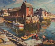 EMILE ALBERT GRUPPE, (American, 1896-1978), MOTIF #1 (ROCKPORT), oil on canvas, 30 x 36 in., $10,000-15,000