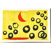 Lot 514, Alexander Calder (American, 1898-1976), The Yellow Sky, 1963, Gouache and ink on paper, $60,000-$80,000.