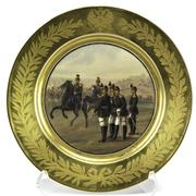 Alexander III Imperial Russian Porcelain Plate, sold for $ 87,500