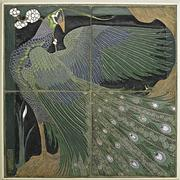 Frederick Hurten Rhead University City Peacock Tile, Sold For: $637,500