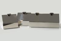 """Bob Van Breda, """"Houses"""", 2012, nickel plated steel, 29 x 13 1/2 x 7 in."""