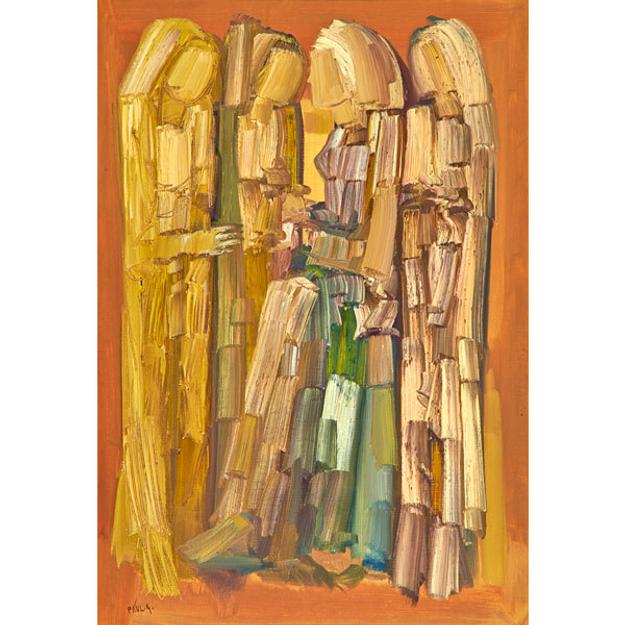 Lot 582, Paul Guiragossian (Lebanese, 1925-1993), Untitled, Sold for: $87,500.