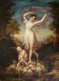 Karl Joseph Begas (German 1794-1854), Fanny Elssler as 'La Sylphide'