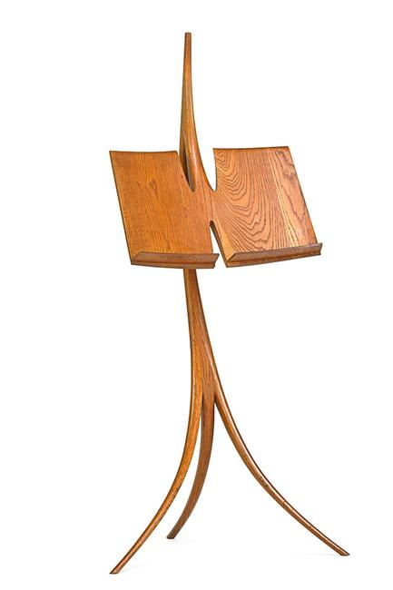 Lot 1005, Wendell Castle, Music stand, Scottsville, NY, 1965, $18,000 – 24,000.