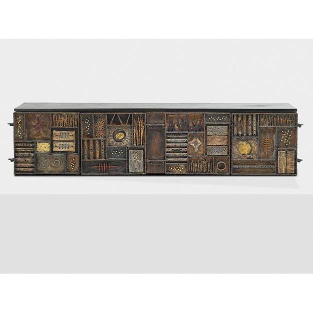 Lot 601, Paul Evans Sculpture Front Cabinet, Sold for $183,750