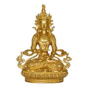 "Lot 70.  Tara.  Gilt and pigment.  9"".  7 lbs.  $15,000-$25,000"