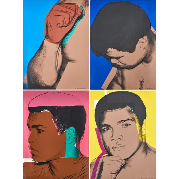 Lot 631 Andy Warhol, Muhammad Ali, $112,500