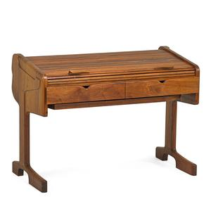 Lot 638: Federico Armijo, Tambour desk, $3,500 – 4,500.