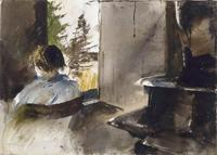 Andrew Wyeth, Wood Stove Study, 1962 watercolor © Andrew Wyeth.  Collection of the Marunuma Art Park
