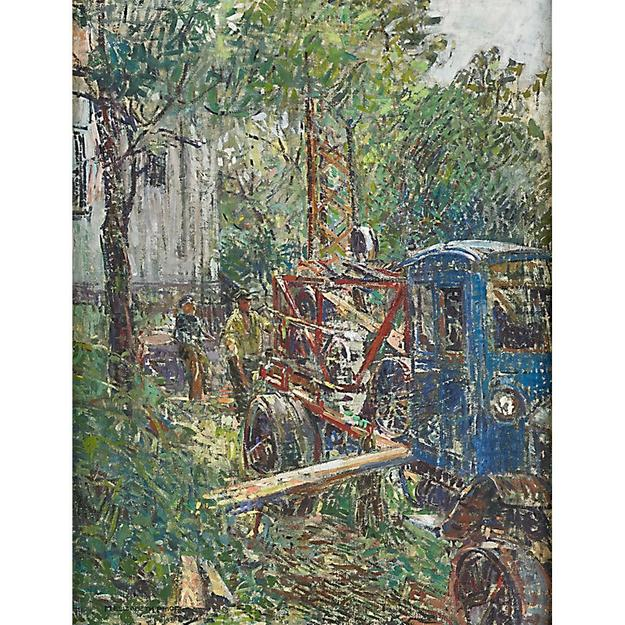 Lot 80 - Mary Elizabeth Price, The Well Digger from Titusville - Sold for: $ 50,000