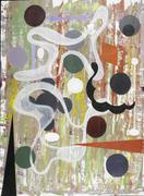 Joseph Stabilito, Five oil and collage on paper, $700-900