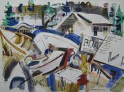 """Boat Works"" - John Waddingham -w/c"