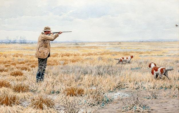 Arthur Burdett Frost (1851-1928), English Snipe, 1895, watercolor and gouache, 14 by 21 ½ inches, Estimate: $40/60,000