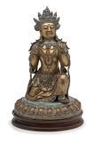 Sino-Tibetan Porcelain Bodhisattva sold for $44,650