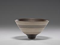 Lucie Rie Bowl with White Stripes