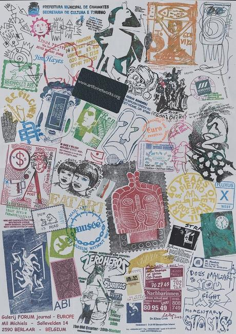 Ryosuke Cohen mail art to John Evans, 2002 (ongoing project since 1985).  John Evans papers, Archives of American Art, Smithsonian Institution.