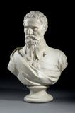 Bust of Michelangelo wearing Van Dyck costume, 1834, G.  Rigali, plaster Exhibitor: William Agnew