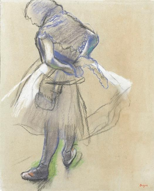STEPHEN ONGPIN FINE ART: HILAIRE-GERMAIN-EDGAR DEGAS Paris 1834-1917 Paris Dancer (Préparation en dedans) Charcoal, with stumping, on buff paper.  Haughton International Fairs Launch a True `Collectors Fair' In the heart of London June 10-16, 2010